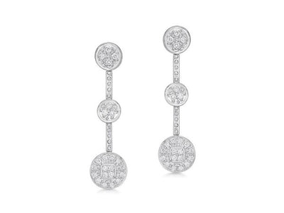 Alor Aloro White Dangle Earrings