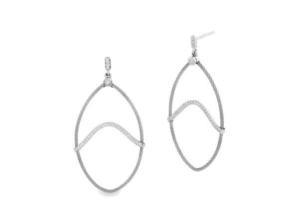 Alor White Dangle Diamond Earrings
