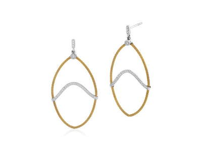 Alor Yellow Dangle Diamond Earrings