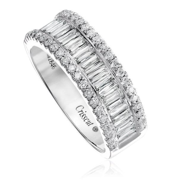 Crisscut Diamond Wide Band - 323B-BA150