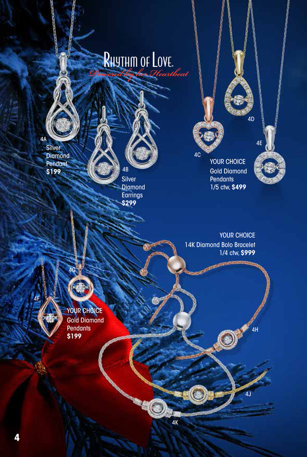 Rhythm of Love Silver Diamond Pendant Holiday Catalog 4A