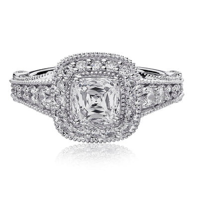 Crisscut Cushion Cut Engagement Ring - G38-CU100