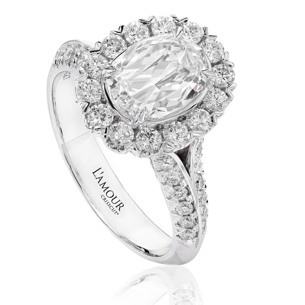 L'AMOUR CRISSCUT OVAL DIAMOND ENGAGEMENT RING - L100-LOV060