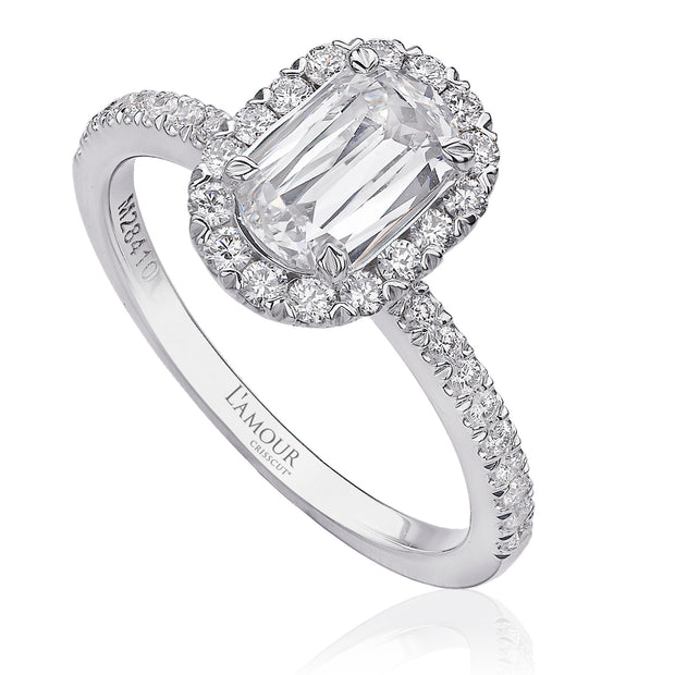 L'Amour Collection Diamond Halo Engagement Ring - L105-100
