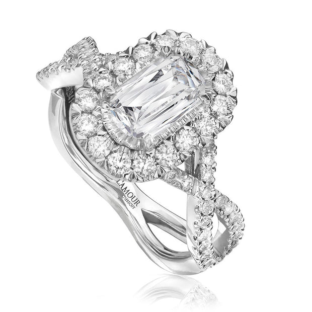 L'AMOUR CRISSCUT® DIAMOND ENGAGEMENT RING- L193-075