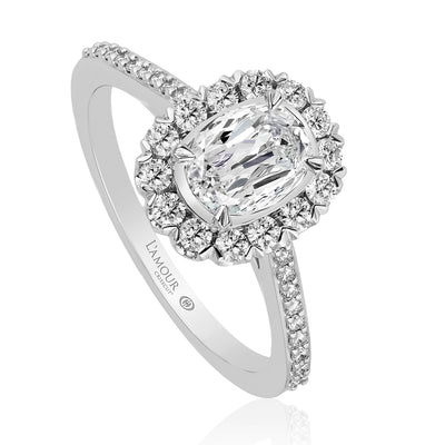 L'AMOUR CRISSCUT DIAMOND ENGAGEMENT RING - L227-LOV075