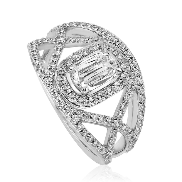 L'AMOUR CRISSCUT DIAMOND ENGAGEMENT RING - L517-050