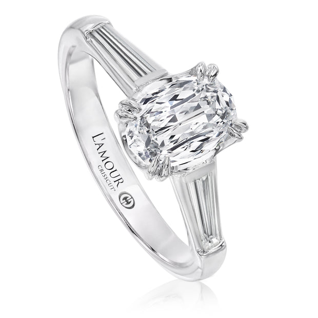 L'AMOUR CRISSCUT® OVAL SHAPE DIAMOND ENGAGEMENT RING - L529-LOV100