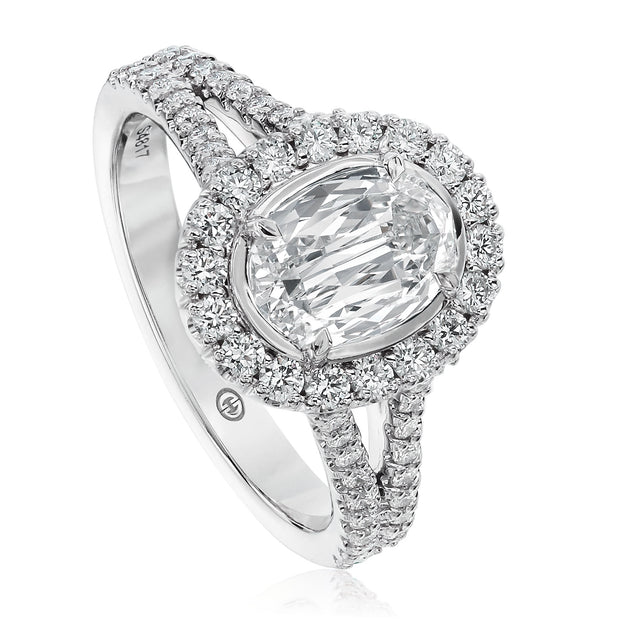 CRISSCUT® OVAL SHAPE DIAMOND ENGAGEMENT RING - L531-LOV100