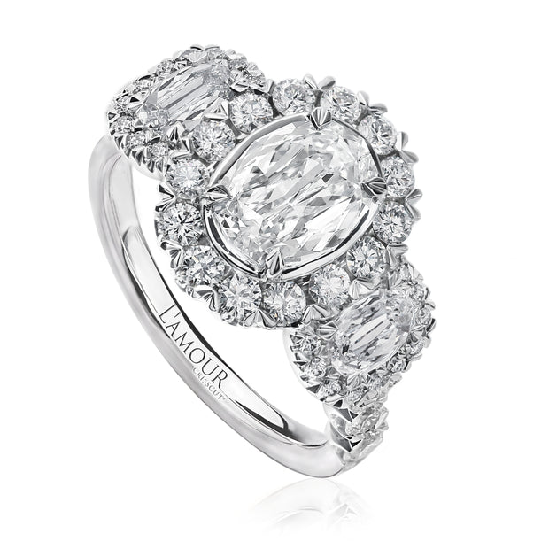 CRISSCUT® OVAL SHAPE DIAMOND ENGAGEMENT RING - L533-LOV100