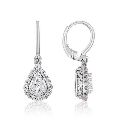 CRISSCUT PEAR SHAPE DIAMOND EARRINGS - L601ERG-LPE100