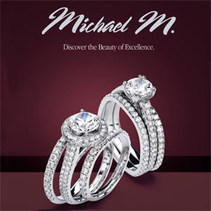 Michael M. R320B Wedding Band Platinum