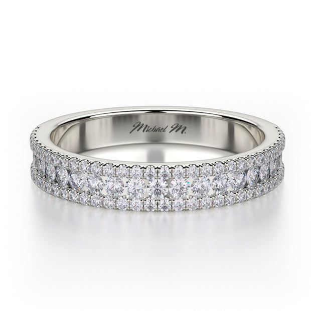 Michael M. R396SB Wedding Band Platinum