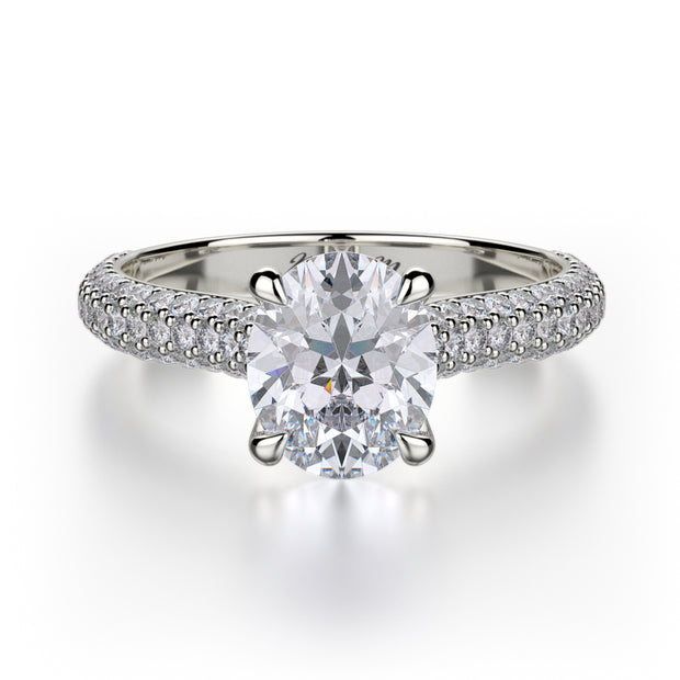 Michael M. R708 Engagement Ring Platinum