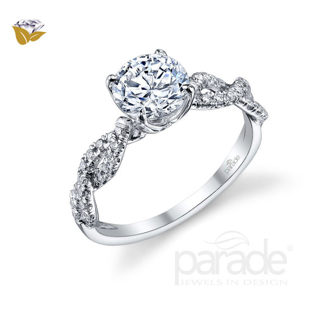Parade Hemera Bridal Collection Engagement Ring R3059 Platinum