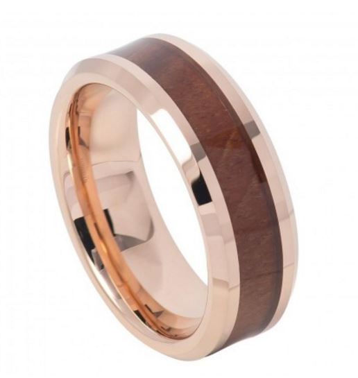 Rose Wooden Men's Ring TR739