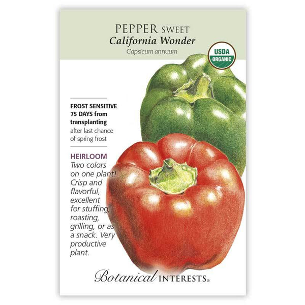 Pepper Sweet, California Wonder (Bell Pepper)