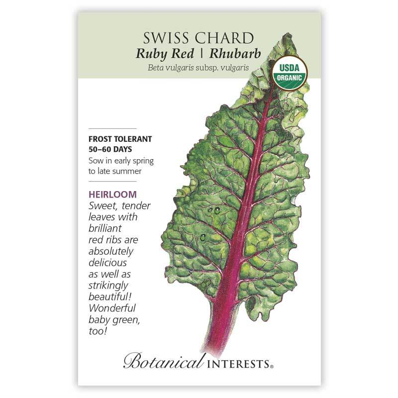Swiss Chard, Ruby Red Rhubarb - 2020