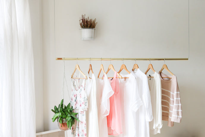 Hanging Rail Clothing Rack