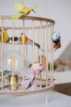 Load image into Gallery viewer, Wooden Birdcage Table Lamp