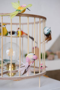 Wooden Birdcage Table Lamp