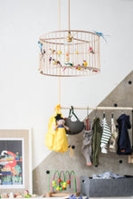 Load image into Gallery viewer, Medium Wooden Birdcage Pendant Light