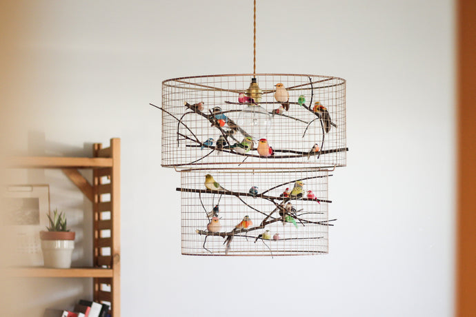 Double Birdcage Pendant Light
