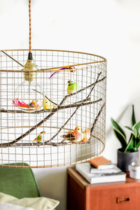 Medium Copper Birdcage Pendant Light