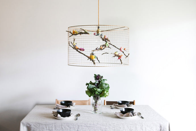 Large  Birdcage Pendant Light
