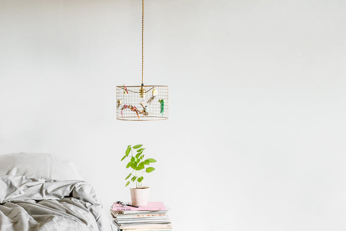 Little Copper Birdcage Pendant Light