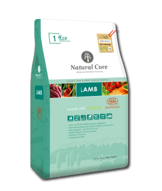 Natural Core ECO1 Organic Lamb & Sweet Potato Formula Dry Dog Food (1kg/7kg)