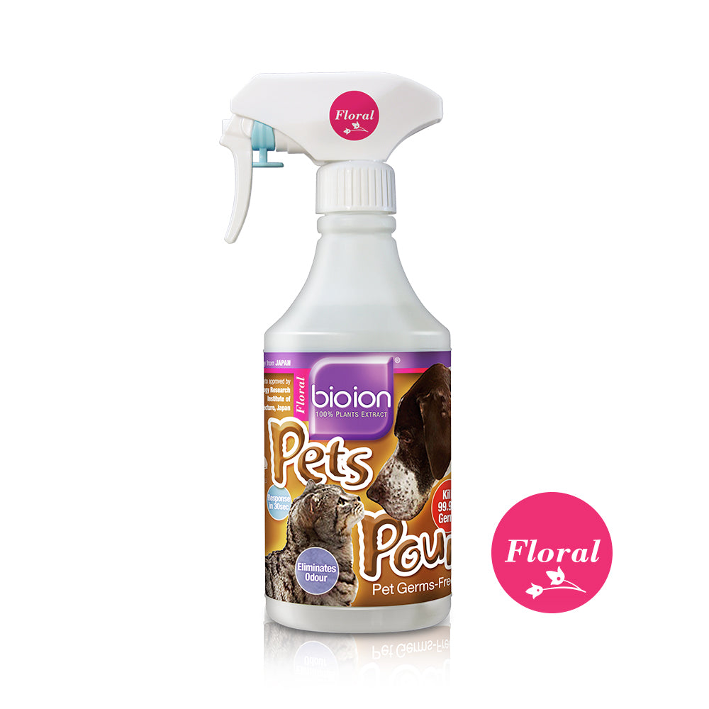Bioion Pets Pounce Pets Sanitizer Flora (500ml)