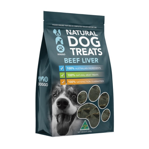 Uno Doggo Natural Dog Treats - Beef Liver (250g)
