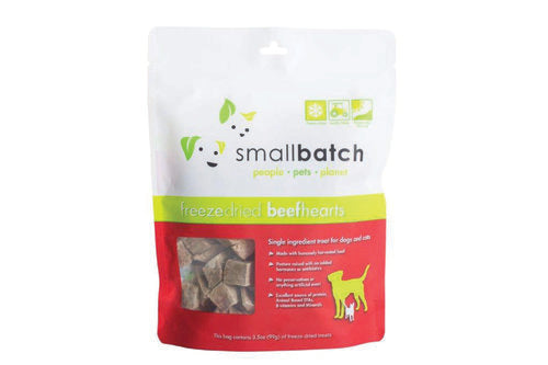 Smallbatch Beef Hearts Freeze Dried Cat & Dog Treats (3.5oz/100g)
