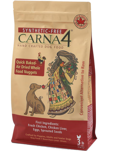 Carna4 Quick-Baked Air Dried Chicken Nuggets for Dogs (3lbs/1.36kg)