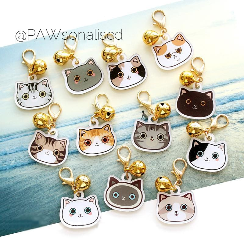 @PAWsonalised Petshape Acrylic ID Tags for Cats (2 sizes, 100+ designs!)