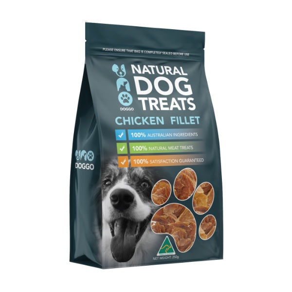 Uno Doggo Natural Dog Treats - Chicken Fillet (250g)