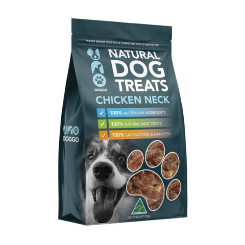 Uno Doggo Natural Dog Treats - Chicken Neck (250g)
