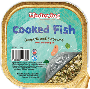 Underdog Cooked Fish (Alaskan Pollock & Salmon) Fresh Frozen Dog Food (150g)