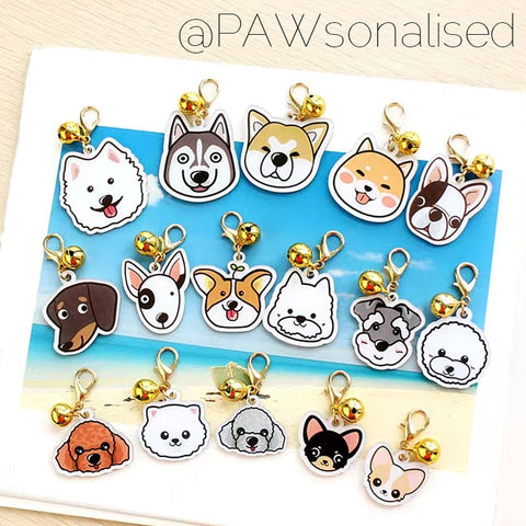 @PAWsonalised Petshape Acrylic ID Tags for Dogs (4 sizes, 80+ designs!)