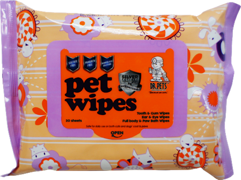 Dr Pets Wet Wipes (20 sheets)