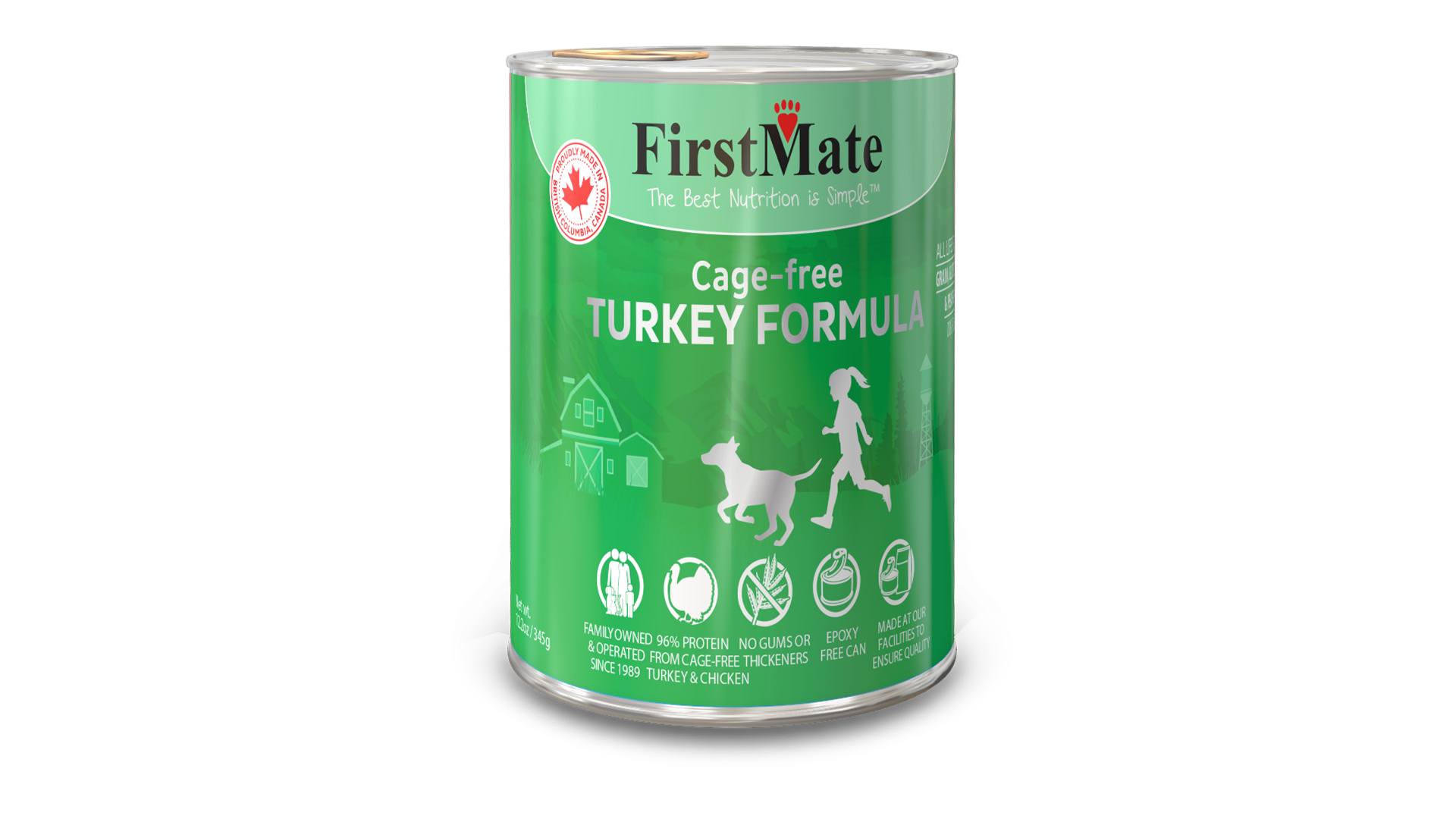 FirstMate Grain & Gluten Free, Free Run Turkey Formula for Dogs (345g)