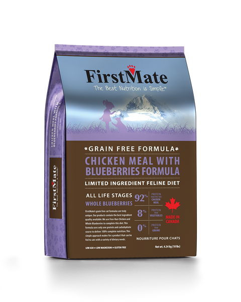 FirstMate Grain & Gluten Free, Free Run Chicken with Blueberries for Cats