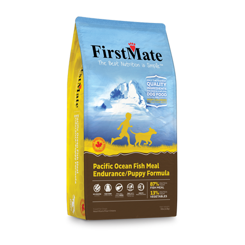 FirstMate Grain & Gluten Free, Pacific Ocean Fish Formula - Puppy/Endurance (Normal Bites) 5lbs/2.3kg