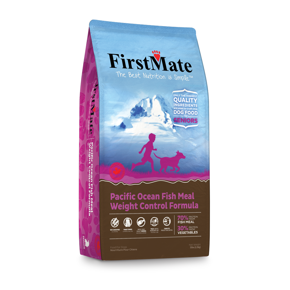 FirstMate Grain & Gluten Free, Pacific Ocean Fish Formula - Senior/Weight Control (Normal Bites)