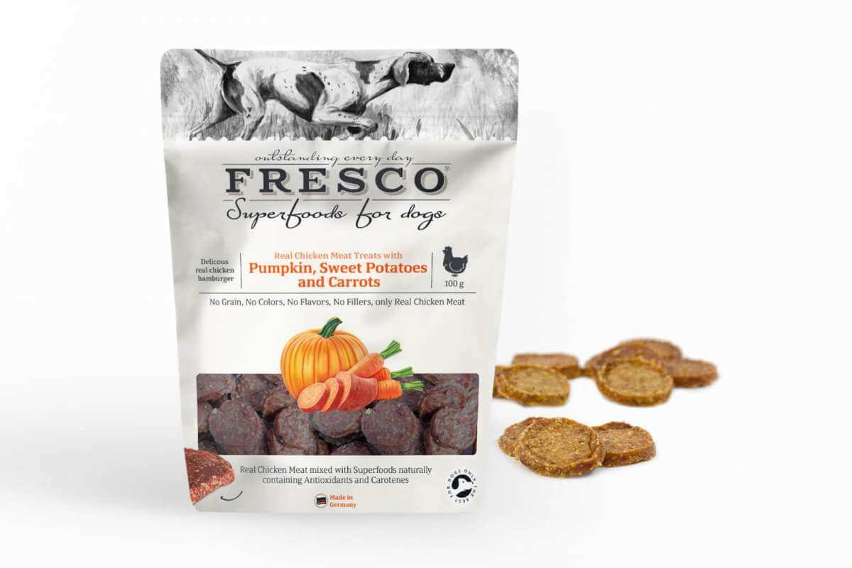 Fresco Superfood Chicken Hamburger with Pumpkin, Sweet Potatoes and Carrots (100g)