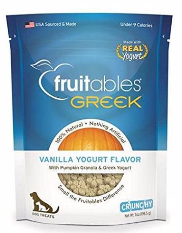Fruitables Crunchy Greek Vanilla Yogurt Dog Treats