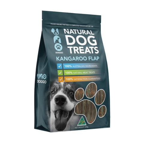 Uno Doggo Natural Dog Treats - Kangaroo Flaps (250g)