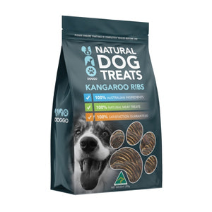 Uno Doggo Natural Dog Treats - Kangaroo Ribs (250g)