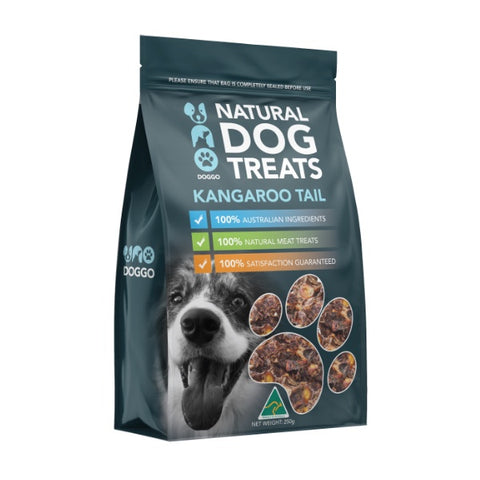 Uno Doggo Natural Dog Treats - Kangaroo Tail Disk (250g)